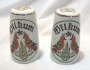 Folk art German bird S & P shakers