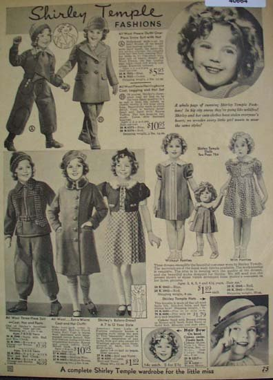 Sears Shirley Temple Fashions For Girls 1935 Ad