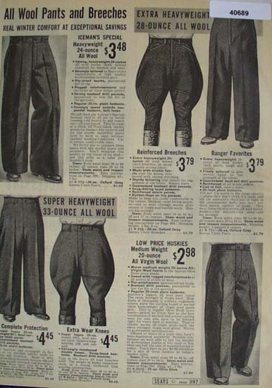 Sears Mens Pants And Breeches 1938 Ad