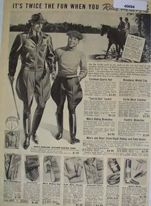 Sears Ride In Style Clothes 1938 Ad
