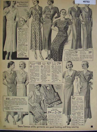Sears Womens Uniforms And Smocks 1936 Ad