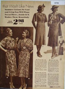 Sears Womens Cotton Dresses 1938 Ad