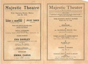 Majestic Theater Opera program of Ciccolini 1919