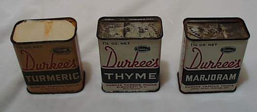 Set of 3 spice tins Durkee