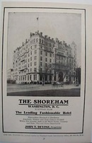 1912 Shoreham Hotel Washington DC