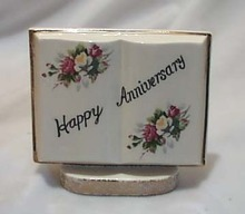 Norleans Book Vase Happy Anniversary
