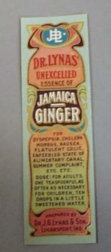 Victorian Label Reads Jamaica Ginger