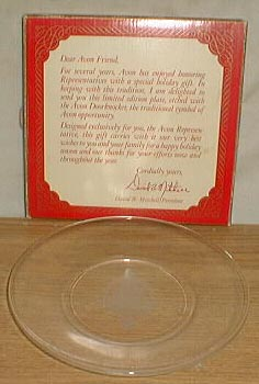 Avon Representative plate limited edition