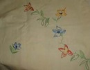 Hand Embroidered Tablecloth Flower Pattern