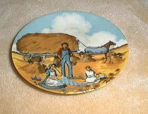 Avon American Portraits plate collection showing the midwest
