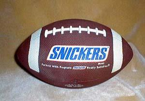 Snickers advertising football, a soft type rubber