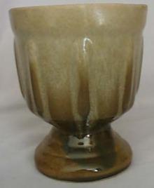 Glaze drip pot Haegar?mottle green/yellowbrow
