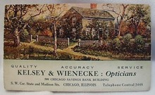 1911 Kelsey & Wienecke Opticians Chicago IL