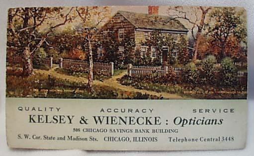 1911 Kelsey & Wienecke Opticians Chicago IL