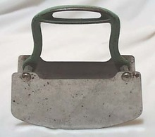 Acme stainless green iron handled chopper