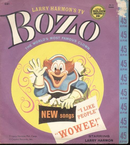 Larry Harmon's TV Bozo, 45 record, Cover