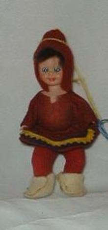Miniature Doll from ? country, hard plastic