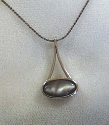 Sarah Cov. Gray Stone Necklace