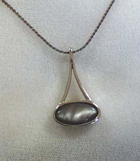 Sarah Cov. Gray Stone Necklace
