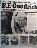 Gene Autry Promotes BF Goodrich Tires Ad 1950