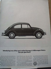 2 Radical Volkswagen Changes 1966 Ad