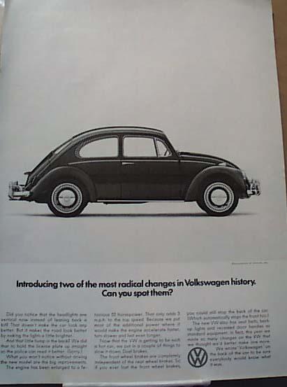 2 Radical Volkswagen Changes 1966 Ad