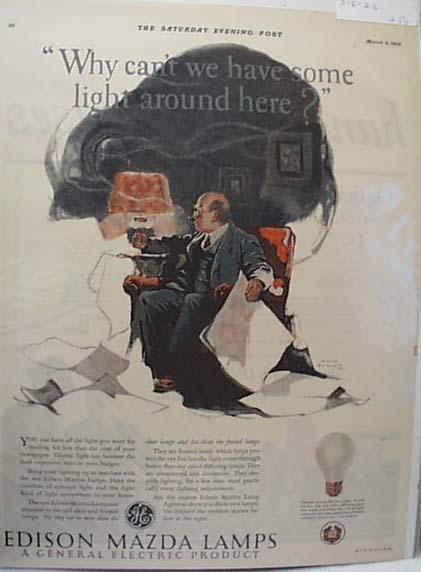 Edison Mazda Lamp ad 1926