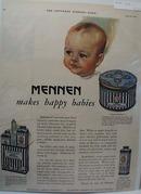 1927 Mennen happy babies ad,