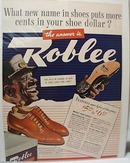 Roblee Shoes 1939 Ad