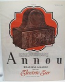 Annou Electric Ear Radio 1928 Ad