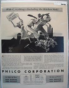 1943 Philco Ric Godal Ad