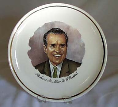 Richard Nixon 37th President collectors plate