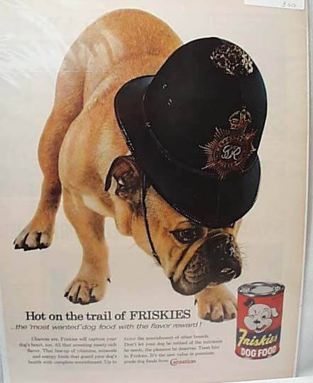 Friskies 1960 Ad With Bulldog