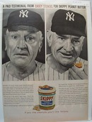 1959 Mr Stengel N Y Sox  Skippy Peanut Butter