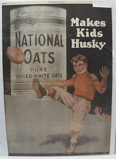 National Oats Makes Kids Husky 1919 Ad