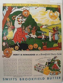 Swifts Brookfield Butter 1933 Ad