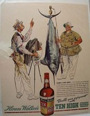 Hiram Walker Comical 1938 Ad