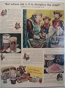 Elsie & Family Borden Cow 1947 Ad