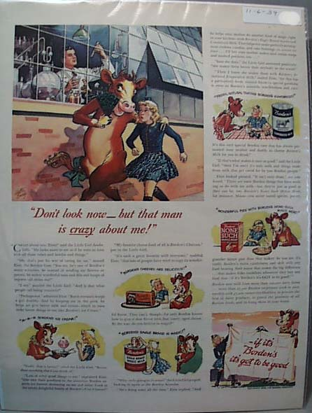 Elsie & Family Borden Cow 1939 Ad