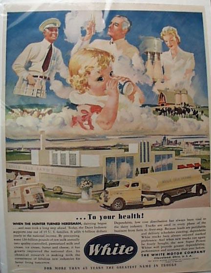 1942 White Milk Truck Belle Isle Farms Ad