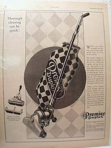 Premier Duplex Vacuum Cleaner Ad 1927