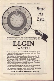 Elgin Watch Ad Year of 1900