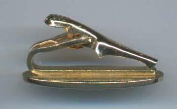 Swank Tie Clip Textured Gold