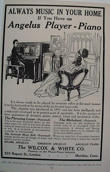 1912 Angelus Player Piano Ad