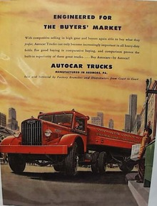 Autocar Trucks Ad 1947 Red Truck