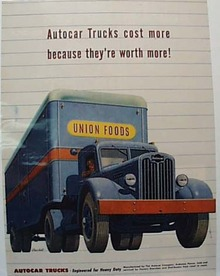Autocar Trucks Ad, 1947 Blue