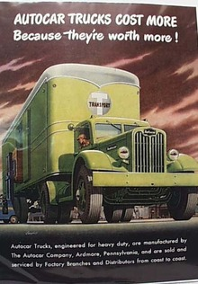 Autocar Trucks Ad, 1946 T Transport  Moving