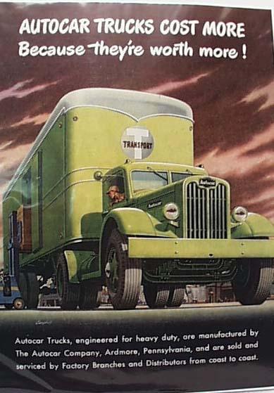 Autocar Trucks Ad, 1946 T Transport  Moving
