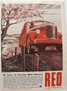 Reo 1944 Heavy Truck Ad