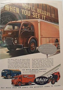 White Motor  Truck 1951 Ad Showing Sunoco